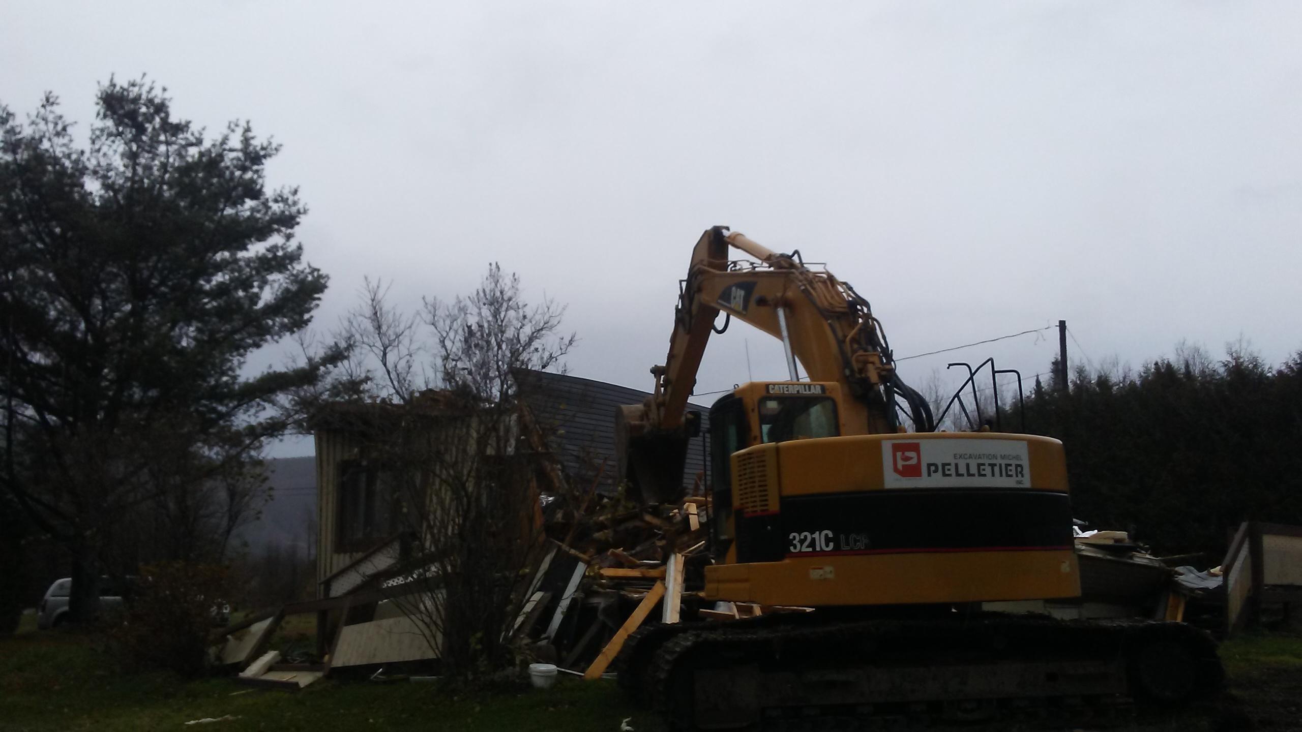 démolition maison en Gaspésie